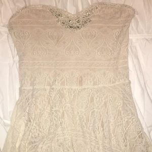 Free people strapless lace dresses